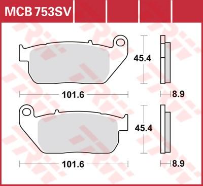 TRW SV/SH Remblokken MCB753SV