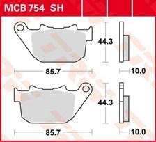 TRW Plaquettes de frein SV/SH MCB754SH