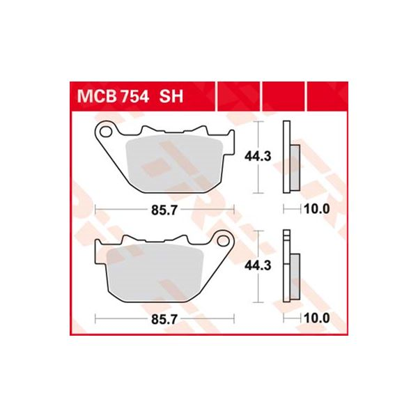 TRW SV/SH Remblokken MCB754SH