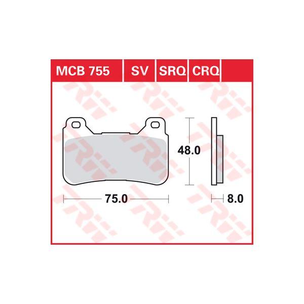 TRW CRQ remblokken MCB755CRQ