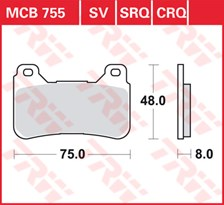 TRW Plaquettes de frein SRQ  MCB755SRQ