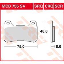 TRW Plaquettes de frein SV/SH MCB755SV