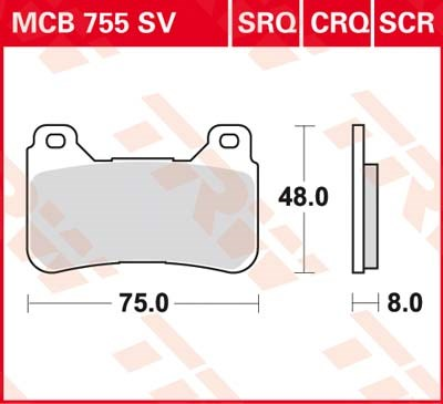 TRW SV/SH Remblokken MCB755SV