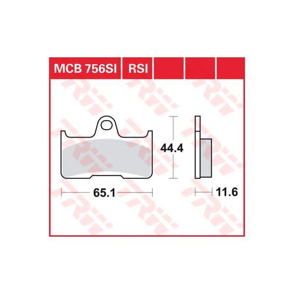 TRW SI Remblokken sinter metaal MCB756SI