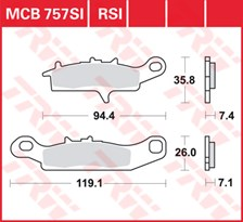 TRW Plaquettes de frein RSI MCB757RSI