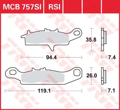 TRW RSI remblokken MCB757RSI