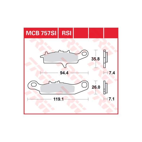 TRW SI Remblokken sinter metaal MCB757SI
