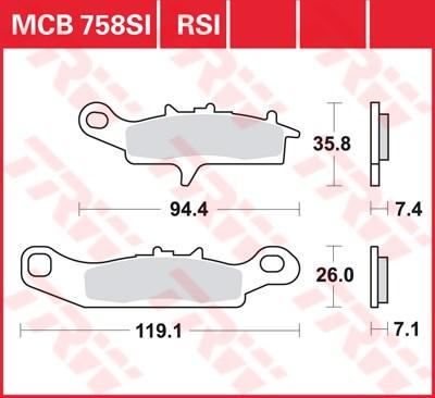TRW SI Remblokken sinter metaal MCB758SI