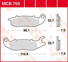 TRW Plaquettes de frein organique MCB759