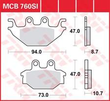 TRW Plaquettes de frein métal fritté SI MCB760SI
