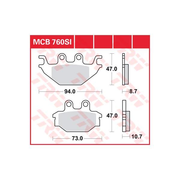 TRW SI Remblokken sinter metaal MCB760SI