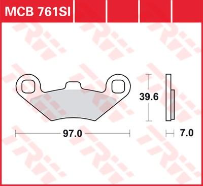TRW SI Remblokken sinter metaal MCB761SI