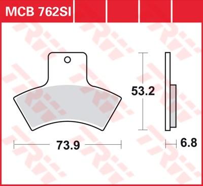 TRW SI Remblokken sinter metaal MCB762SI