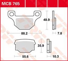 TRW Plaquettes de frein organique MCB765