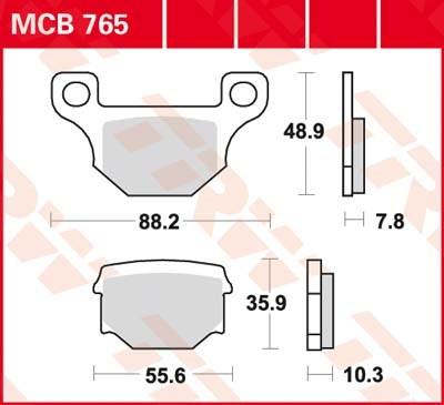 TRW Standaard remblokken MCB765