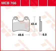 TRW Plaquettes de frein organique MCB766
