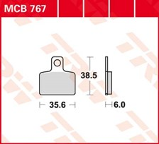 TRW Plaquettes de frein organique MCB767
