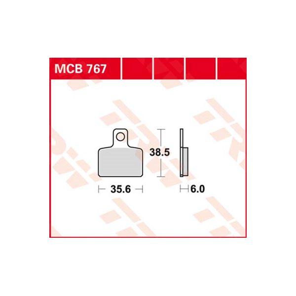 TRW Standaard remblokken MCB767