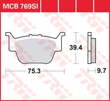 TRW Plaquettes de frein métal fritté SI MCB769SI