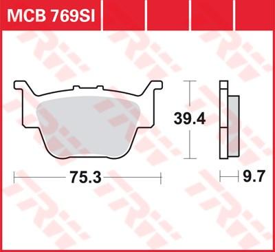 TRW SI Remblokken sinter metaal MCB769SI