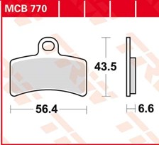 TRW Plaquettes de frein organique MCB770