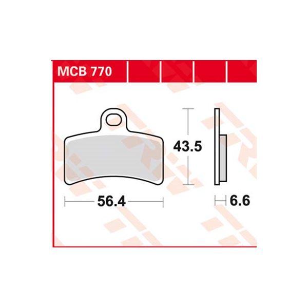 TRW Standaard remblokken MCB770