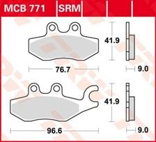TRW Plaquettes de frein organique MCB771