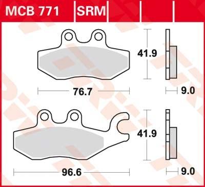 TRW Standaard remblokken MCB771
