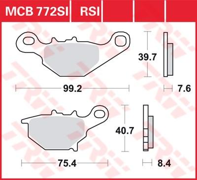 TRW SI Remblokken sinter metaal MCB772SI