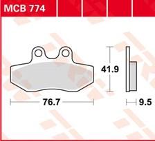 TRW Plaquettes de frein organique MCB774