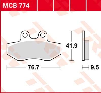 TRW Standaard remblokken MCB774