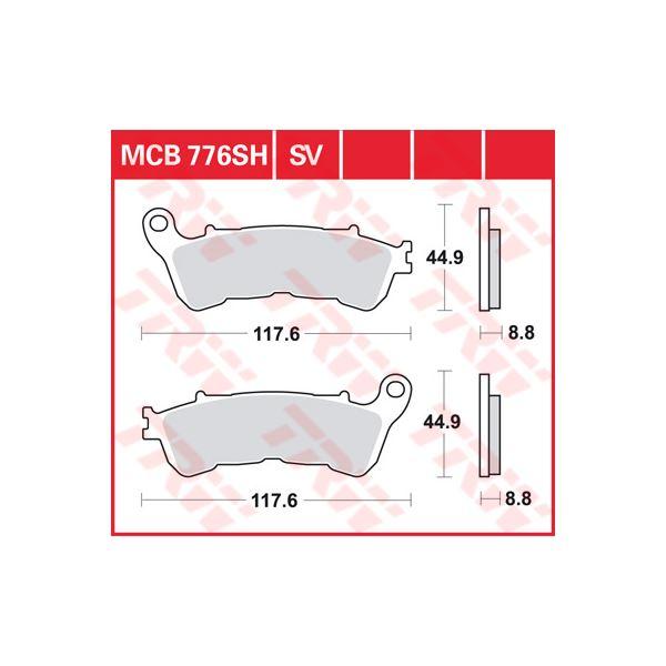 TRW SV/SH Remblokken MCB776SH