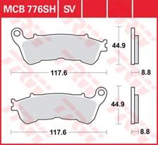 TRW Plaquettes de frein SV/SH MCB776SV