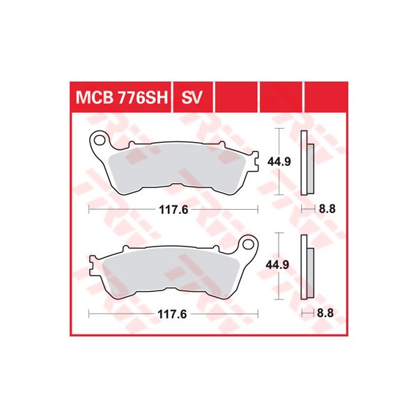 TRW SV/SH Remblokken MCB776SV