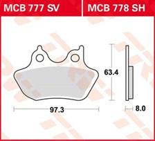 TRW Plaquettes de frein SV/SH MCB777SV