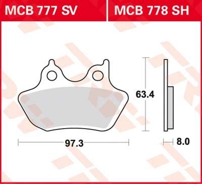TRW SV/SH Remblokken MCB777SV