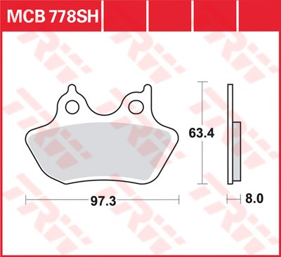 TRW SV/SH Remblokken MCB778SH