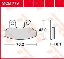 TRW Plaquettes de frein organique MCB779