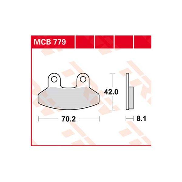 TRW Standaard remblokken MCB779