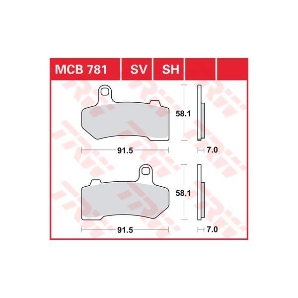 TRW SV/SH Remblokken MCB781SH