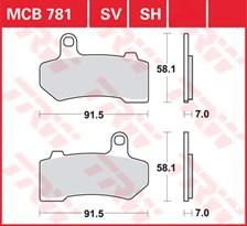 TRW Plaquettes de frein SV/SH MCB781SV