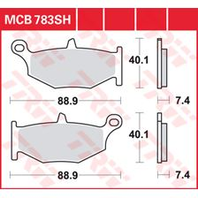 TRW Plaquettes de frein SV/SH MCB783SH
