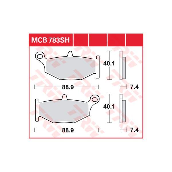 TRW SV/SH Remblokken MCB783SH