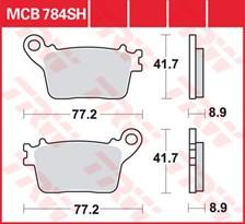 TRW Plaquettes de frein SV/SH MCB784SH
