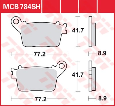 TRW SV/SH Remblokken MCB784SH
