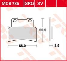 TRW Plaquettes de frein organique MCB785
