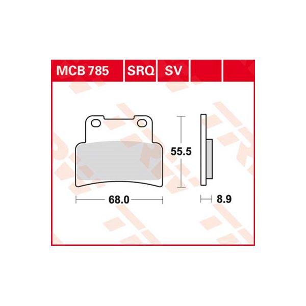 TRW Standaard remblokken MCB785