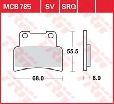 TRW Plaquettes de frein SRQ  MCB785SRQ