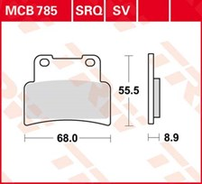TRW Plaquettes de frein SV/SH MCB785SV