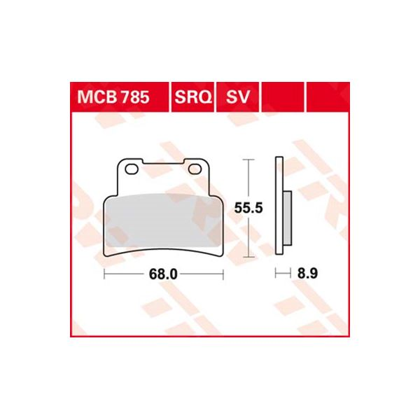 TRW SV/SH Remblokken MCB785SV